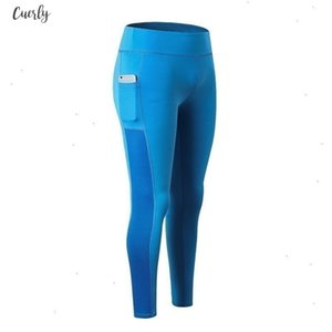 Stretchy Super Fitness Leggings Women Pocket Stitching Mesh Sportwear High Waist Energy Seamless Tummy Casual Control Workout Pants