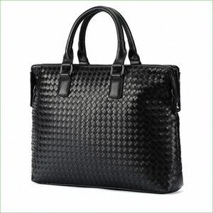 New Arrival High Quality Leather Man Messenger Bag Bag Set Mens Briefcases Business Laptop Men Handbags nVfQ#