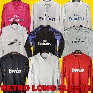 Real Madrid Retro 10 11 12 Soccer Jersey Long Sleeve GUTI Ramos McManaman 17 18 RONALDO ZIDANE Beckham 06 07 RAUL shirts REDONDO