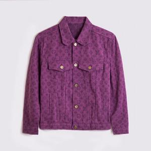 Yüksek Kalite Denim ceketler Sonbahar Kış Fermuarlar Erkekler Giyim Moda Casual Tasarımcı Uzun Kollu Erkek Kadın Ceketler Coats Turn-down