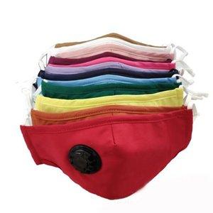 Máscara reutilizáveis Rosto com máscara de respiração Aspirador Válvula várias cores mutável Filtro Pads Dustproof pano de protecção com pacote de varejo
