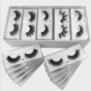 10-100Pairs Box Silver Card Lashes False Eyelashes High Volume Cross Thick Fluffy Eyelashes Eye Lashes Wispy Makeup Eyelash Vendor