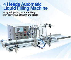 3-1000ML 4 Насадки Магнитный Drink насос Автоматический Desktop Liquid Water Filler Конвейерная машина для наполнения бутылки воды делая машину