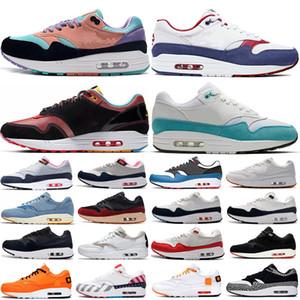 1s men women running shoes 1 Anniversary royal Patch Parra Black Elephant 87 Work Blue Split mens trainers sneakers sports shoes 36-45