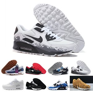 Mens Shoes classic 90 Men and woman Shoes Black Red White Trainer Air Cushion Surface Breathable Casual Shoes 36-45 W5G2T