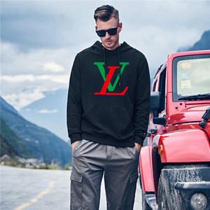 Men Gray Camouflage Letter Print Hoodies Autumn Winter Camo Fleece Pullover Fashion Hip Hop Streetwear Casual Hoodie L̴V