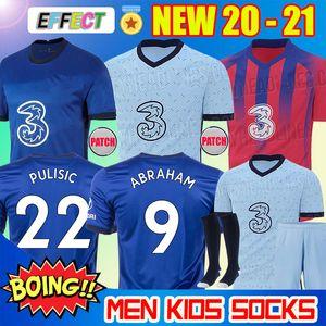새로운 KANTE 베르너 아브라함 ODOI 조르지 루이스 프 렐루 PULISIC 축구 유니폼을 도착 2020 멀리 2021 지루 WILLAN 축구 셔츠 (20) (21) 남성 홈 어린이 키트