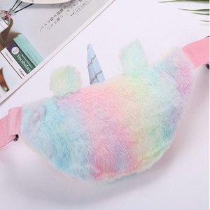 2016 Yudanae Rainbow Unicorn Plush Fuzzy Fanny Pack Waist Bag Cute Bum Bag For Kids Girls Purple Unicorn Fuzzy Aplus Media Yudanae Rainbow l