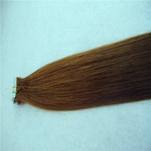 Straight Hair Extensions Skin Weft Hand Tied Tape In Remy Human Hair Extensions 10-36 Inchs 20pcs 40pcs 100g