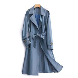 rXKBn Special 191602020 season new Women's Mid-length lace-up waist slim Special 191602020 season new windbreaker Women's Windbreaker coat M