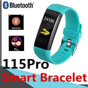115Pro Smart Bracelet Body temperature measurement 116plus Fitness Tracker Passometer Heart Rate Boold Pressure 115plus Smart Wristbands
