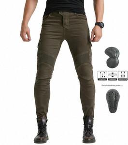 Ejército verde Volero MOTORPOOL UBS06 los pantalones vaqueros de los pantalones vaqueros de la motocicleta moto equipos de protección de los hombres que compiten con jTa5 #