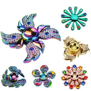 Kid Toys Colorful Finger Gyro Fidget Spinner Angel Wings Fingertips Gyro Children Adult Edc High Speed American Spiral Toy Diamond Gifts