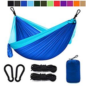 12 couleurs Portable hamac avec moustiquaire simple personne Hammock Hanging lit plié dans la poche pour Voyage EEA1065