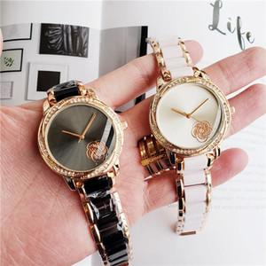 Мода Марка Часы Женщины девушка цветок стиль CC металла стальной лентой кварцевые наручные часы CH20