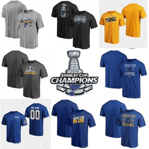 Männer 2019 Stanley Cup Champion St. Louis Blues 90 Ryan O Reilly Colton Parayko 57 David Perron 91 Vladimir Tarasenko 50 Binnington T-Shirt