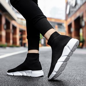 Men's Sneakers New Casual Sports Flying Woven Paris Family Socks Couple Shoes Men Mans Footwear Tenis Masculino Scarpe Uomo