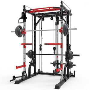 acier machine Smith squat porte portique cadre de fitness maison dispositif de formation complet banc squat presse libre frame.1