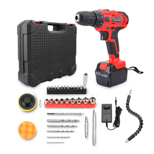 21V 45N.m Rechargeable Battery Screwdriver Set Electric Drill Kit Power Tools with Blow Molded Case for Home DIY Use