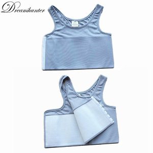 S-4XL Strengthen Bandage Reinforced Trans Vest Short Corset Tomboy Tank Tops Chest Shaper Lesbian Breast Binder Shirt Underwear Y200710