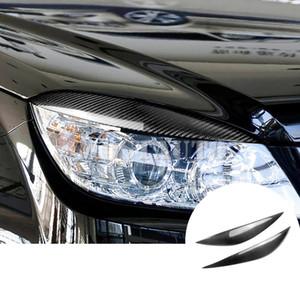 For Benz C Class W204 Carbon Fiber Headlight Eye Lid Eyebrow Cover 2008-2013 2pcs