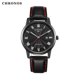 CH11 men's Watch Japan movement belt business calendar waterproof quartz watch