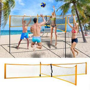 Portable professionnel extérieur Herbe de sable ou à l'intérieur Cross Sport Volley-ball Volley-ball Tennis Badminton Net Quickstart Place Net