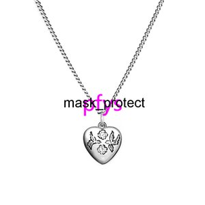Bind for love, the fearless, pure silver necklace, the male and female couple, pendants, heart-shaped sweater chain