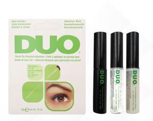 새로운 도착! 2020 듀오 속눈썹 접착제 눈 속눈썹 접착제 브러시에 접착제 비타민 / 화이트 클리어 / 블랙 / 5g 새로운 포장 메이크업 도구