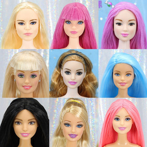 Original 1 6 Joints Move Doll Brand Naked Doll Body Variety Skin Colourful Hair Doll Head Accessories Girls Toys Birthday Boneca T200712