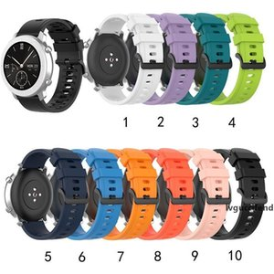 20 22mm Silicone Watch Band For Huami Amazfit GTR 47MM Smart Wristband Men Women Sport Straps For Huami Amazfit GTS BIP lite 2020 Newest