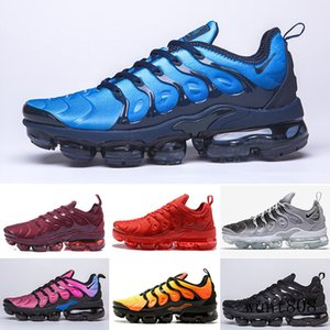 2019 TN PLUS Running Shoes For Men Women Black Speed Red White Anthracite Ultra White Black 2019 Best Designers Sneakers 40-46 KY6LM