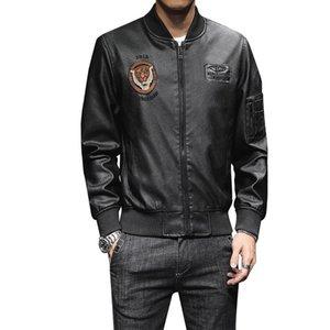 mensNew casual coat Korean slim fashion handsome youth PU leather jacket wear