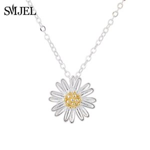 SMJEL Accessories Jewelry Tiny Daisy Flower Pendants Necklaces for Women Sunflower Chain Necklace Best Friend Gifts