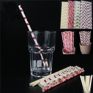 New Disposable Bubble Tea Thick Rainbow Drinking Paper Straws Environment Friendly Kraft Paper Straw For Bar Birthday Wedding Party HH7-1212