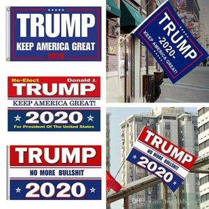 STOCK الولايات المتحدة، و 10 الألوان ديكور راية العلم ترامب شنقا 90 * 150CM ترامب إبقاء أميركا العظمى لافتات 3x5ft الرقمية طباعة دونالد ترامب 2020 العلم