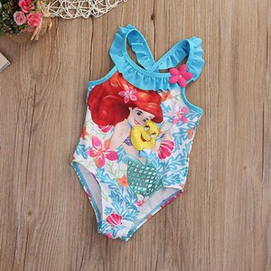 Kids Clothes Children Baby Girl Little Mermaid Bikini Suit Swimwear Swimsuit Bathing Costume Toddler 1 6Y New 2020