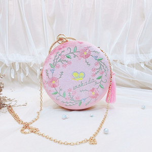 ABERA Bags for women 2019 Design Corduroy Clutches Women flower Embroidered Evening Bags Party Wedding HandBag MN1373