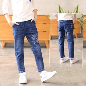 Wear Jungen Jeans Jeanshosen panty2019 Herbst neue Kinderbekleidung mittleren und großen Kinderhosen