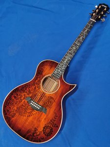 Free Shipping Full KOA wood solid wood top with ebony fingerboard one in stock