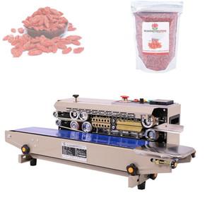 220 V Sac en acier inoxydable automatique en continu Composite machine d'étanchéité machine FIlm ceinture machine d'étanchéité continue d'emballage
