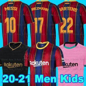 FC BARCELONA كرة القدم جيرسي 20 21 camiseta دي فوتبول أنسو FATI 2020 2021 ميسي GRIEZMANN DE JONG Maillots دي قميص كرة القدم عدة رجال + الاطفال