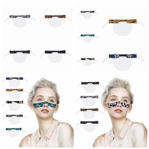 Sordomuto Trasparente Viso leopardo mascherina mascherine antipolvere riutilizzabili antiappannamento Earloop Cancella Lip PVC stampato maschera maschere Designer 9styles RRA3348