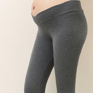임산부 출산 바지 레깅스 플러스 사이즈 고품질의 가을 출산 레깅스 낮은 허리 임신 배꼽 바지