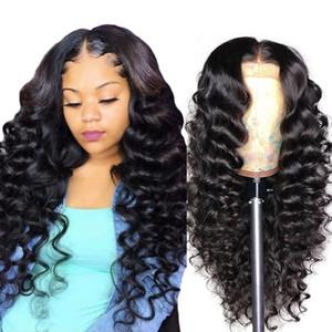 Agua Pelucas de cabello humano Afro Kinky Rizado Flojo Limita Profundo Lameras frontal de encaje recto 130/150/180/250% Pelucas delanteras de encaje de pelo humano