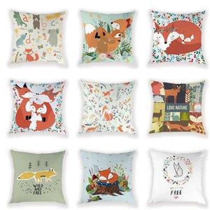 Fundas de almohada en cojines decorativos salvaje y libre de la cubierta del amortiguador para el amortiguador de encargo almohadilla para el sofá decorativo