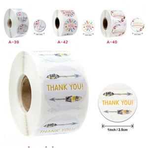 Blumen New Muster-Aufkleber Danke Aufkleber Geburtstags-Geschenk-Verpackungs-Aufkleber Rund Verschiedene Stile Briefpapier Backen 2 2jka D2