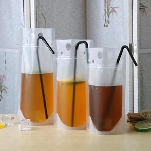 Transparent Getränk Pouches Klare Getränkebeutel Frosted Selbst Sealed Milch Kaffee trinken Saft Plastiktaschen Kunststoff tragbare EEA1782