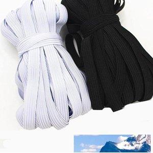 6MM 8MM White Black Colored Elastic Webbing Band For DIY Pants Garment Sewing 20Meters