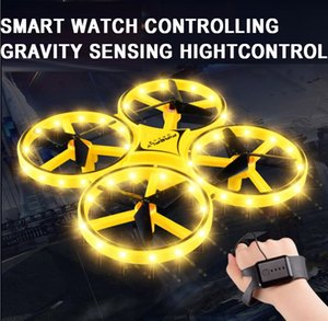 New Arrival 2.4G rc watch controlling flying infrared toys,smart watch Gravity rc hand induction drone